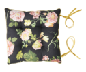 Pillow - Black with pink flower