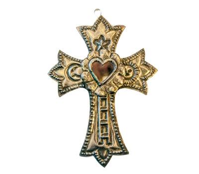 Väggedkoration kors - plåt