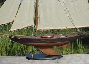 Segelbåtsmodell Bermuda sloop old finish