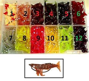 """DOA Shrimp 1,5"""" (4cm) loose bodys (no hooks) 3pcs"""