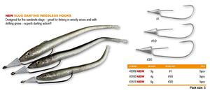 Slug darting weedless hooks 3-6g