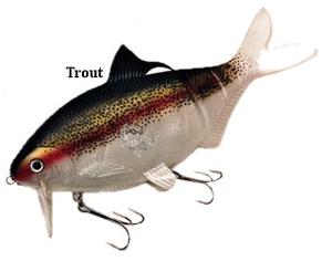 XXL Wobb 25cm, 200g Trout