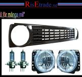 Kromade Angel Eyes samt grill till VW Golf 2