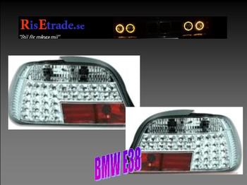 Kromade LED-baklampor till 7er BMW E38