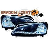 """Peugeot..""""DragonLights"""" Daylight/Parkeringsljus i slinga..Ett par designstrålkastare"""
