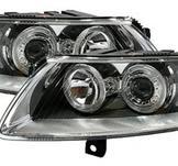 Angel Eyes strålkastare Audi A6 4F / Krom