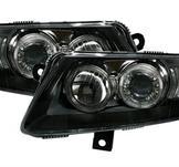 Angel Eyes strålkastare Audi A6 4F / svart