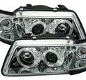 Angel Eyes strålkastare i krom för Audi A3 8L