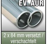 "SuperSport avgasr""r variant AUR ""2x 84mm runda, Blandad / kapslade, kantad Kant"