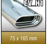 """SuperSport avgasr""""r variant """"H1"""" 75x165mm flat oval,"""