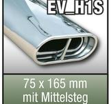 """SuperSport avgasr""""r variant H1S """"75x165mm flat oval, kantade F""""lg med central divider"""