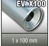 """SuperSport avgasrör variant """"X100"""" 1x100mm runda, fl""""nsade rim"""