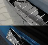 GOLF VII 3D / 5D, böjd- MIRROR + RÖD CARBON, foto..2012->fl2017->