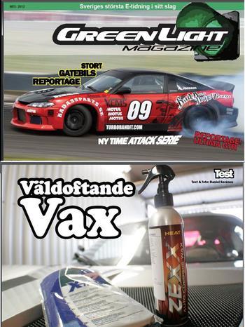 Test av Zexx bilvax i GreenLight Magazine nr 5 2012