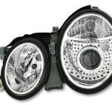 Facelift för Mercedes W208 Headlight / Chrome