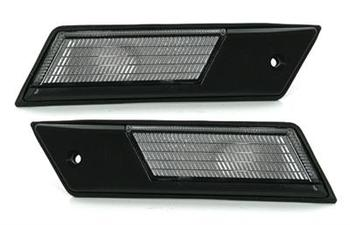 Sidoblinkers vit med svart ram E32, 34, 36