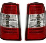 Mercedes W124 LED baklykta W / Red-White