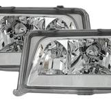 Headlight Mercedes W124 E-klass / Chrome