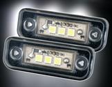 LED Skyltbelysningsset för Mercedes, E-Klasse E211 Limo + Kombi, Bj. 00-07, W203 Kombi, Bj. 00-07, CLS-Klasse W219 Bj. 04-,  SLK-Klasse R171, Bj. 04-.
