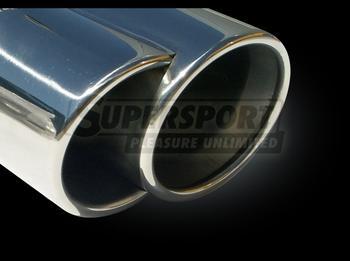"""SuperSport sport ljudd""""mpare rostfritt DUPLEX Honda Civic (VI) 3-Dorr typ EP1, EP2 r 02/01- motorvariant 1.4iS, 1.6i (bensin 66,81 KW) Godk""""nnande delar intyg TšV õ 19,3"""