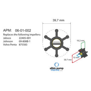 Premium Impeller kit PN 06-01-002