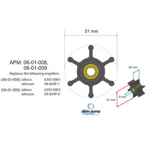 Premium Impeller kit PN 06-01-009