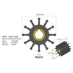 Premium Impeller PN 06-02-025