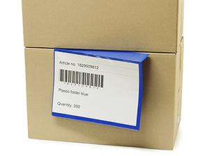 Insticksficka A4L 305 x 230+60 i 0,30 hård blå + 0,16 glaskl.