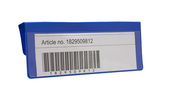Pallkrageficka avdelare i 0,30 hård blå + 0,16 glaskl. 165x55 mm
