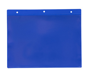 Hängande ficka A5L, 235x170+15 mm i 0,30 hård blå + 0,16 glaskl.