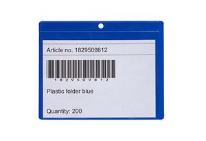 Pallklossficka 145x115mm i hård blå 0,30 + 0,16 glaskl.