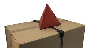 Staplingsstopp pyramid 180x180x180 mm i röd 0,45 pp