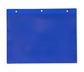 Självhäftande ficka m. tejp A5L, 235x170+15mm i 0,30 hård blå + 0,16 glaskl