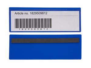 Magnetficka 220x75+5 mm i 0,30 blå hård + 0,16 glaskl. pvc
