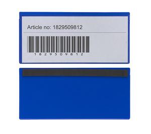 Magnetficka 220x100+5 mm i 0,30 blå hård + 0,16 glaskl. pvc