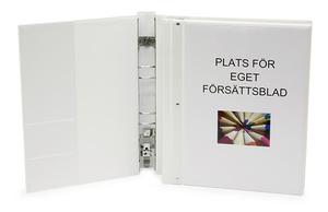 Pärm gaffel STYLE halvrygg A4 PP vit med ficka. Ficka sid 2 för visitkort m.m.