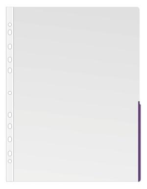 Ficka signal A4 PP transp. 0,17 bred lila signalkant