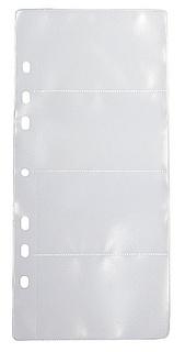 Ficka 4-fack för visitkort i transp. pp. 10-pack