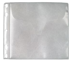 Ficka 1+1-fack CD A6 PP med tissue. 5-pack
