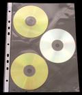[Utgående] Ficka CD 3-fack A4 PP glas. 10-pack