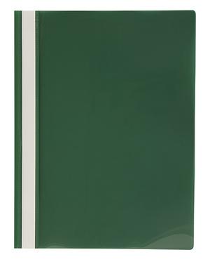 Offertmapp A4 PP enkel framsida, grön rygg+baksida, med skrivfält på rygg. Mont. mek