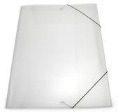 Mapp g-snodd 3-klaff A3 PP cristaline 0,55, snitt för liggande visitkort på nedre klaffen, 10st/fpk