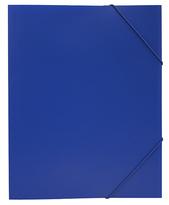 Mapp G-snodd monterade A4 PP blå bred 0,45