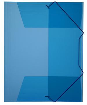 Mapp g-snodd monterade A4 pp blå bred 0,45 cristaline