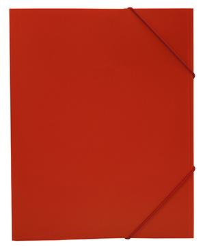 Mapp G-snodd monterade A4 PP röd bred 0,45