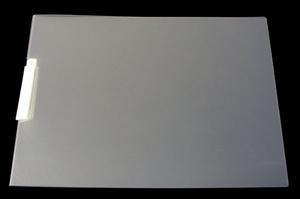 Mapp kläm liggande med vit svängbar mek. vikt A3 PP cristaline präglad 0,7