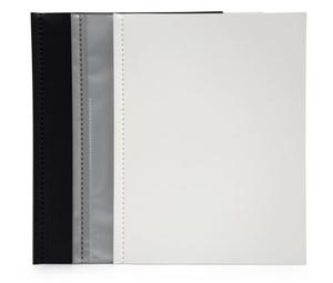 Displaymapp A4 0,30 vit pp med 10 st insvetsade fickor(öppen kort+1/3 långsida)