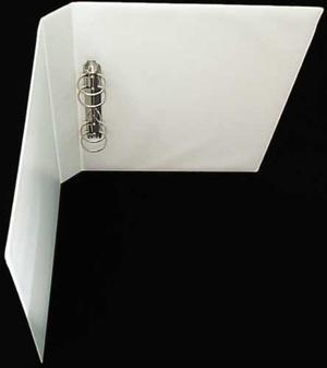 Pärm A4 pp vit utan ficka 40 mm rygg, 30 mm r-mek 21-70-21