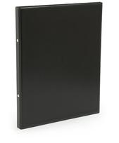 Pärm A4 pp svart utan ficka 25mm rygg, 16 mm r-mek 21-70-21