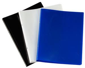 [Utgående] Pärm A4 PP 0,45 blå 20 mm rygg med ficka och 16 mm triomek visitkortssnitt på sida 2